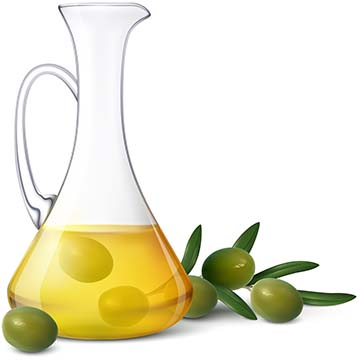 Olive Oil Realistic Composition